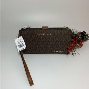 Michael Kors Large Double Zip Wristlet Wallet